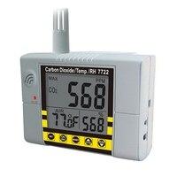 Us plug az7722 co2 detector de gás com teste de temperatura e umidade com saída de alarme driver embutido relé controle ventilação s