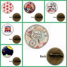 New London Double Decker Badge Brooch Old Fashion Hippie Lapel Pins Clothes Backpack Sightseeing Bus England Souvenir Gift