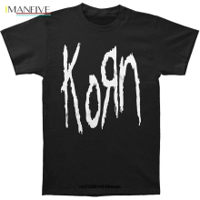 t shirt Fashion Mens T-Shirt Men Summer T-shirt Korn Cotton Black Short Sleeve