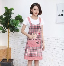 Sleeveless apron fashion womens household pure cotton fabric breathable thin summer