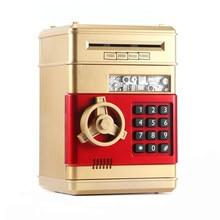 Youool eletrônico piggy bank atm senha caixa de dinheiro moedas de poupança caixa de dinheiro caixa de banco de atm seguro rolo automático papel nota presente para crianças