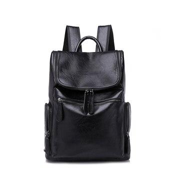 ZROM Leather Men Backpacks Fashion Travel Back Pack Large-Capacity Sports Rucksack For Men Notebook Backpa Men's Student Bag