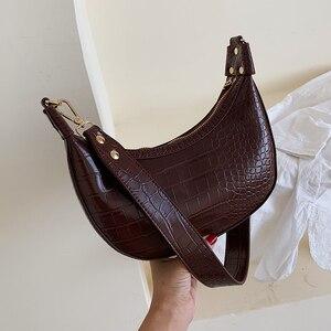Image 1 - Taş desen Retro PU deri kadınlar için Crossbody çanta 2021 küçük omuz basit çanta bayan telefonu çanta ve çantalar