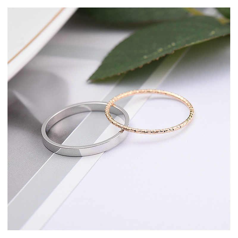 เกาหลีรุ่นแฟชั่น Joint Twist Stiletto ดัชนีนิ้วมือชุดแหวนชุดชุดบุคลิกภาพที่เรียบง่ายผู้หญิง