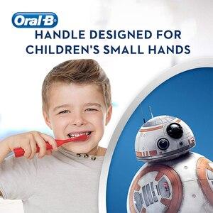 Image 5 - فرشاة أسنان كهربائية أورال بي كيدز للعناية باللثة شعيرات فائقة النعومة لتنظيف الأسنان مزودة ببطارية AA للأطفال 3 +