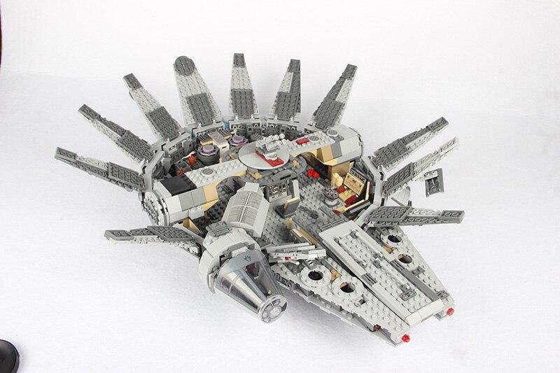 Para legoing star wars força desperta millenary falcon para legoed filme 2 starwars figuras star war espaço navio blocos de construção brinquedo - 4