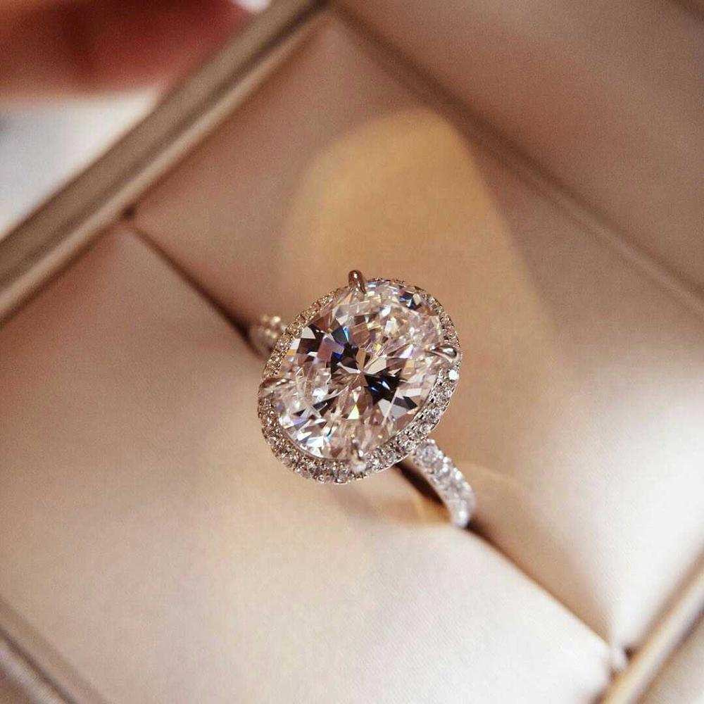 Haute qualité réel S925 3 carats délicatesse Fine bagues femme beauté mariage accessoires de mode anneau bijoux de mode femmes