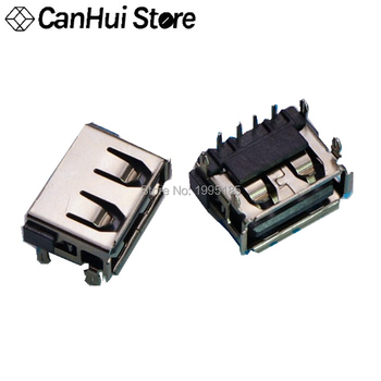 10pcs Laptop 2.0 USB connector jack sockect commonly used 90 degree AF Type 4 DIP Foot JACK female length=10MM Hot new - discount item  6% OFF Electrical Equipment & Supplies