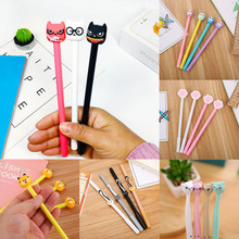 20pcs Cute Cat Gel Pens 0.5mm Kawaii Novelty Neutral For Writing School Office Supplies Creative Korea Stationery