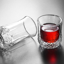 Heat Resistant Double Wall Glass Cup Whiskey Beer Coffee Shot Wine  Creative Mug Tea Drinkware