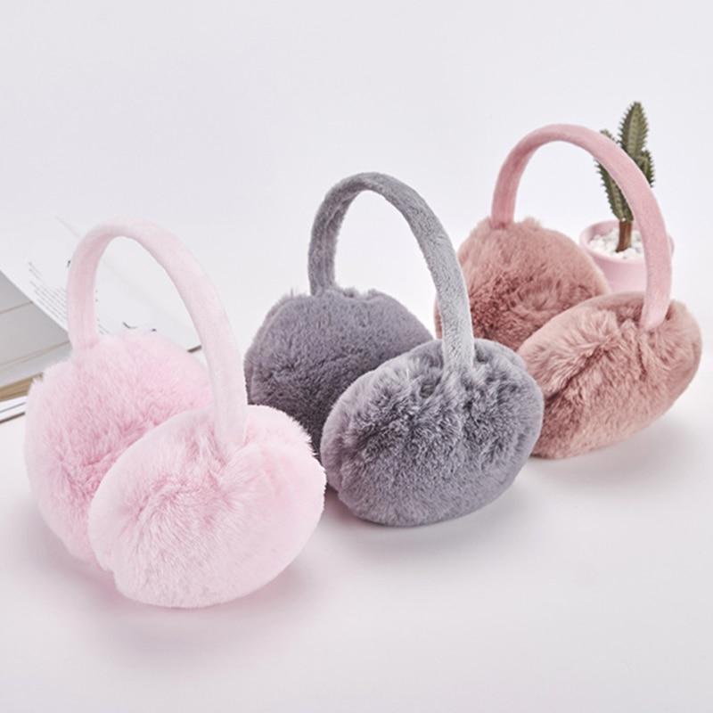 Hot Sale Fur Solid Color Ladies Earmuffs Autumn And Winter Warm And Comfortable Unisex Skiing Fur Headphones Antibruit Cute