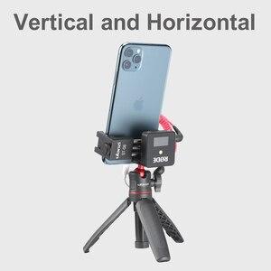 Image 4 - Ulanzi Soporte de Metal para teléfono móvil, Clip de soporte para teléfono móvil con zapata fría para micrófono Go inalámbrico Rode para iPhone 11 Pro Max Samsung Huawei