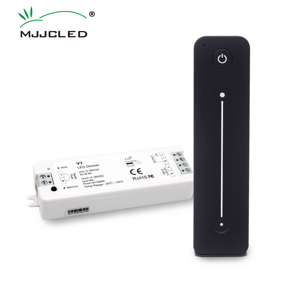 LED <font><b>Dimmer</b></font> <font><b>12V</b></font> 5V 24V 36V 8A PWM Wireless RF Switch with 2.4G Brightness Adjustment Touch <font><b>Remote</b></font> for Single Color LED Strip V1 image