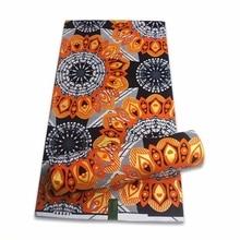 2021 African Gold Wax Fabric 100% cotton High Quality Nigeria Fabric Wax Print Ankara Wax For Sewing 6 Yards Women Fabric