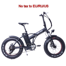 20 inch electric bike fat tire electric bicycle foldable 6 speed snow bike beach bicycle Aluminum alloy e bike for man woman
