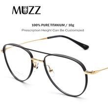 100% reines Titan Brille Super Licht Aviator Rezept Brillen Rahmen Myopie Hyperopie Brillen 2021 Breiten Rand Brillen