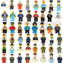 48 шт./лот, фигурки, строительные блоки, совместимые с LegoINGlys, мини-фигурки, кирпичи, DIY игрушки для детей, рождественские мальчики, дети