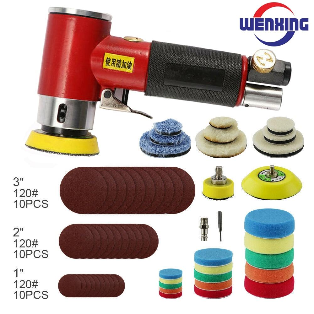 1  2  3   car polisher Pneumatic Sanding Machine Tray Orbital High-speed Sander Polisher For Air Power Tool polishing machine