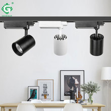 Modern Rail Light System 220V Phase Spotlight Track Lighting Showroom Home Shoes Clothes Shore Exhibition Gallery Lamp Luminaire