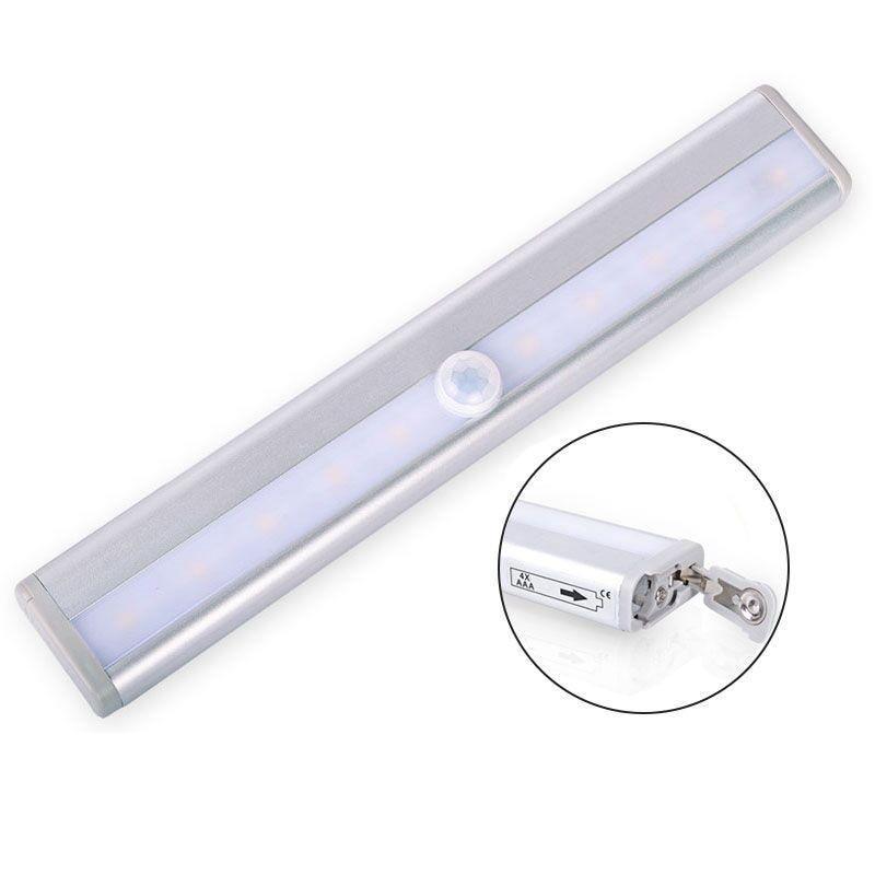 Motion Sensor LED Wall Light Fixture Wall Lamp Aluminium Night Light Battery Powered for Home Lighting