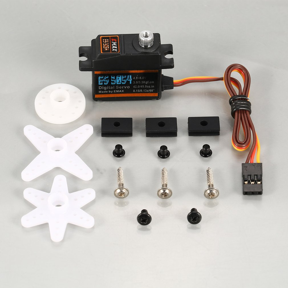 EMAX Digital Metal Gear Servo ES3054 4.8V-6V 3.5kg 0.15/0.13s/60 Degree for RC FPV Fixed Wing Airplane Copter Accessories