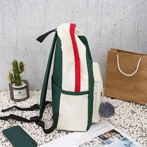 Image 3 - FUNMARDI 4 יח\סט Panelled נשים תרמיל בד חתול דפוס תיק בית ספר ילדה טלאי תרמיל נשי כתף תיק WLHB2065