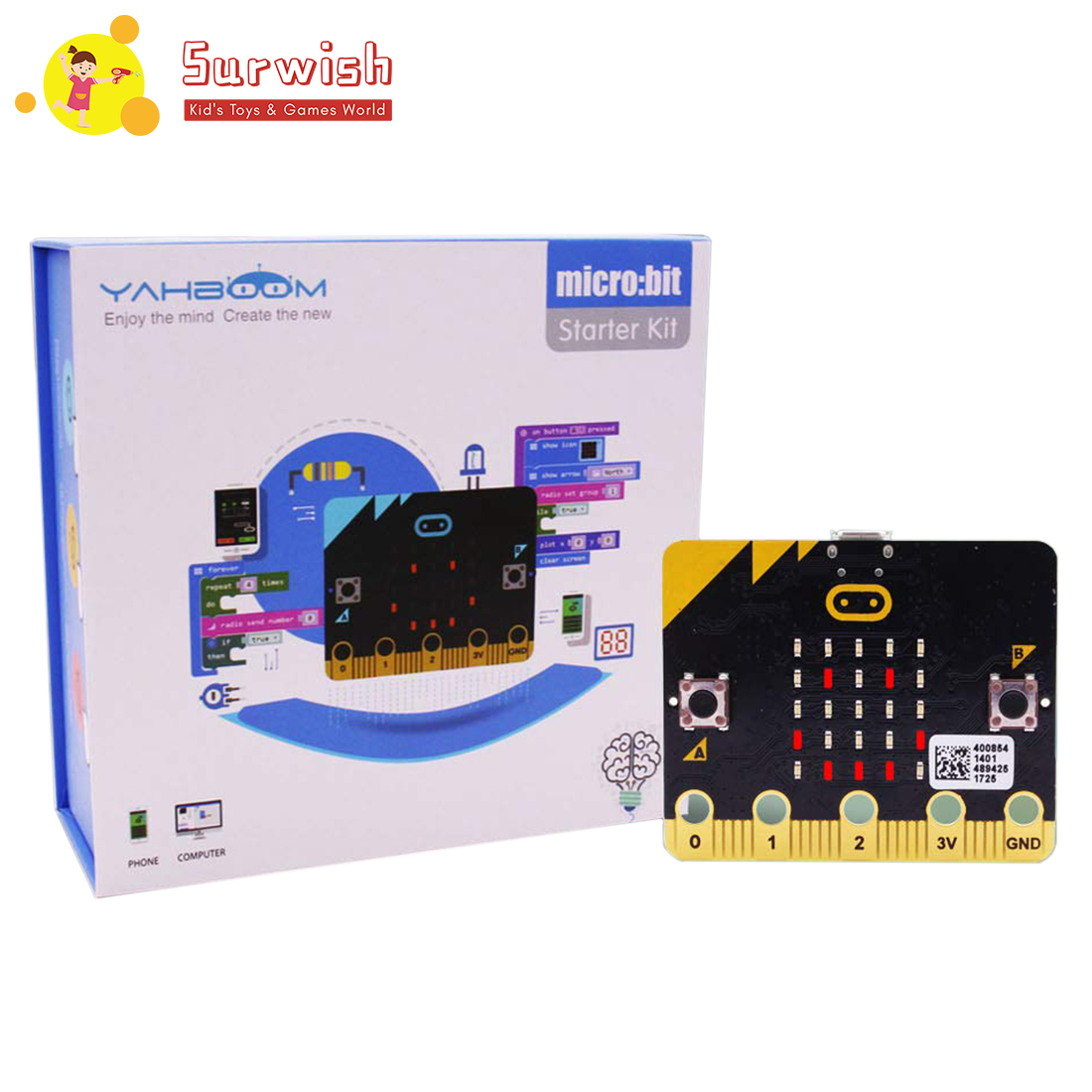 Micro:bit Kit Starter Learning Kit Micro Bit Board Graphical Programmable STEM Toys With Guidance Manual For Kids