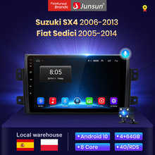 Junsun V1 4 + 64 Android 10 2din autoradio voiture pantalla pour Suzuki SX4 2006-2011, 2012 2013 Fiat Sedici 2005-2014 dvd voiture bluetooth/carplay/android auto/GPS /rds/carplay