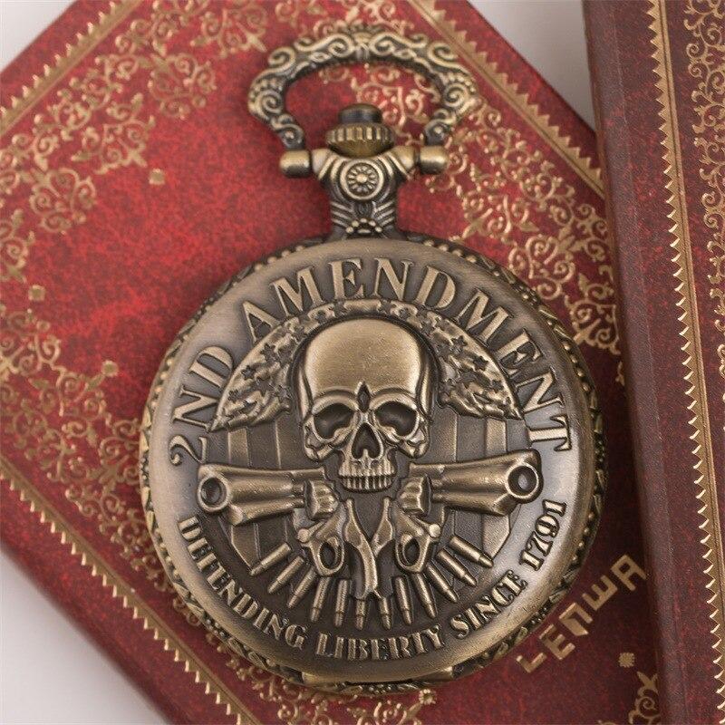 Nightmare Before Christmas Vintage Bronze Pocket Watch Cool Jack Skellington Tim Movie Kid Pendant Necklace Clock