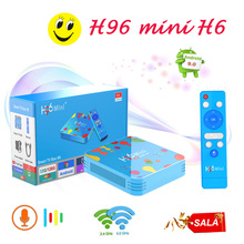 TV Box brasil tv set top box H96mini H6 Android9.0 smart 6K HD media player support iptv subscription france ltaly UK