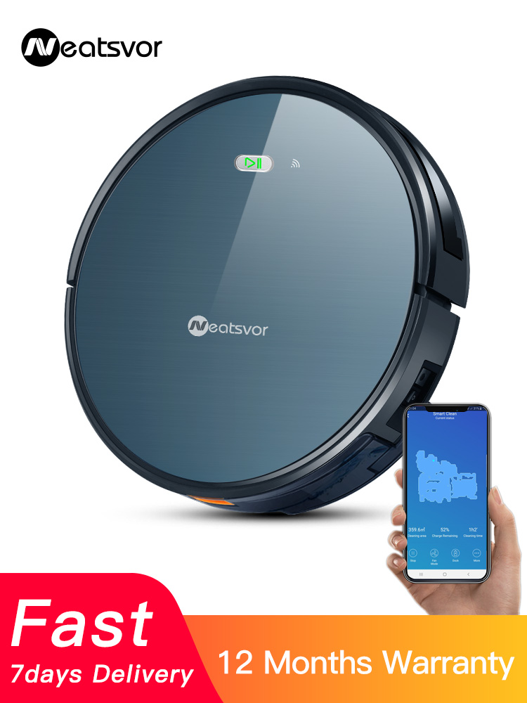 NEATSVOR Robot-Vacuum-Cleaner Suction Pet-Hair Cleaning-Robot Wet Auto-Charge Home-Dry