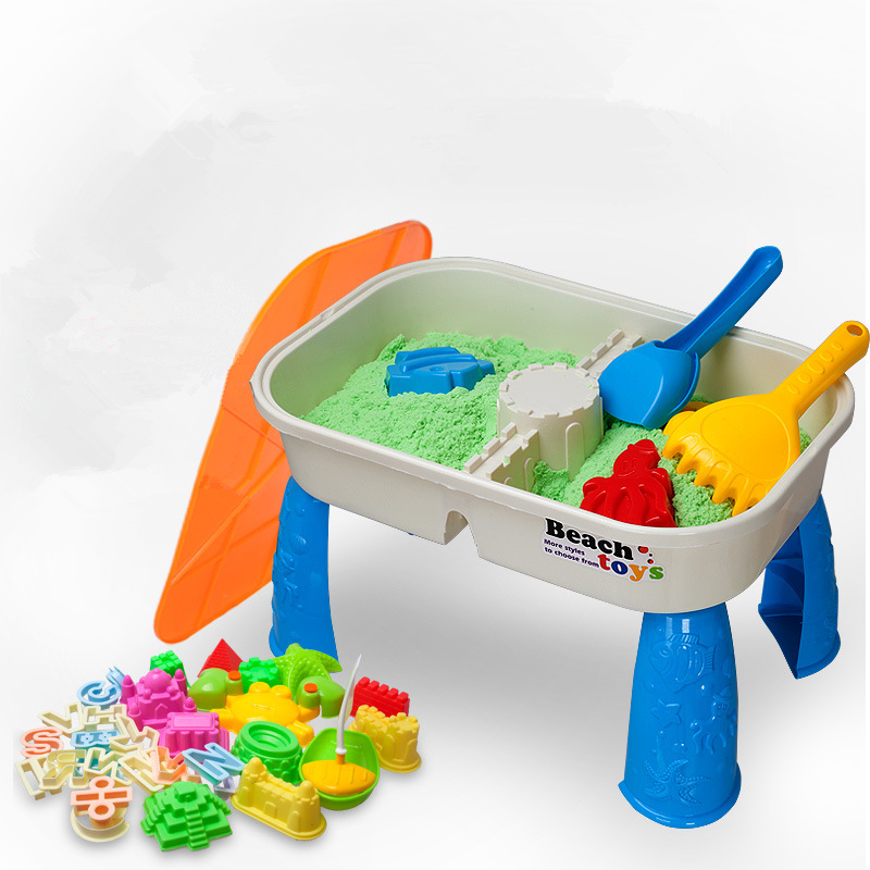 Children Beach Toy Set Safe Non-toxic Summer Play With Water Sand Table Space Assembled Toy Spatula Castle Sand Playing Tool Set
