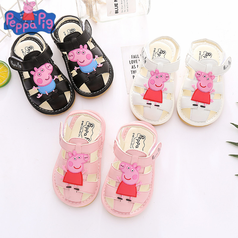 Genuine Peppa Pig George Children's Summer Casual Sandals Shoes Baby Boy Girl  Shoes Anti-Slip Soft Toddler Shoes