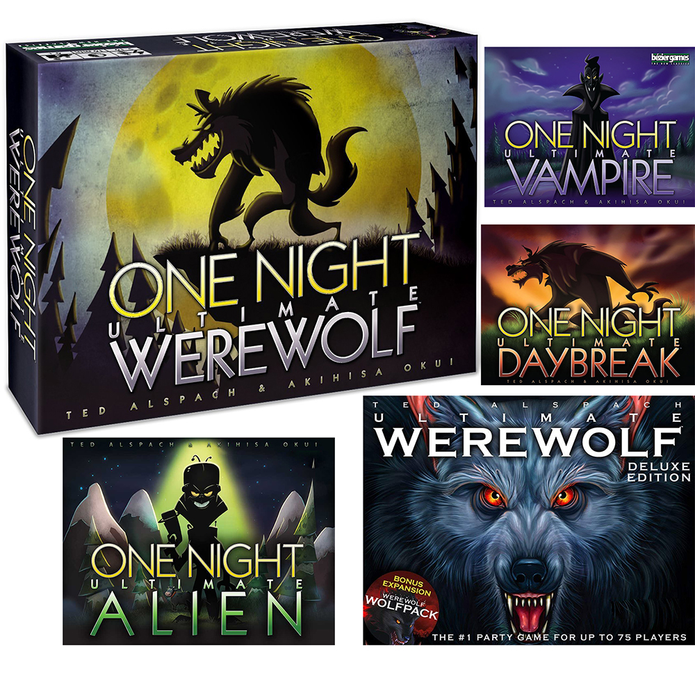 One Night Ultimate Werewolf Daybreak Board Game Brand Alien And Deluxe Edition Card Game Daybreak Vampire Toy Gift