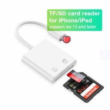 Lecteur de carte SD TF, pour iPhone 12 Pro Max Mini 11 X XR XS Pro Max SE2 iPad Mini Pro Air3 Air4