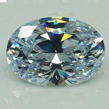 Rất Lớn Đinh Vàng UHA 56.58ct VVS Trắng Sapphire Zircon 18X25mm Hình Bầu Dục Cắt AAAA + Rời Đá Quý
