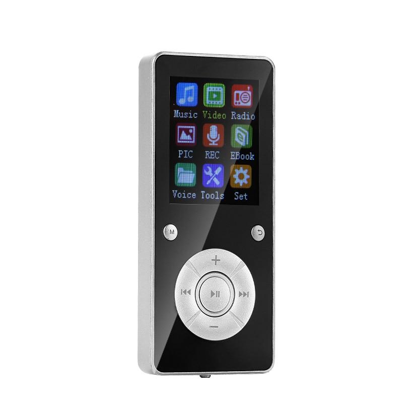 Fashion Bluetooth Mp3 Player With Radio FM Music Player Sport Mini Mp3 Portable Metal Walkman Support Multi-lingual 32G TF Card