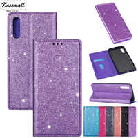 Wallet Case For Samsung A20E A30 A40 A50 A70 A51 A71 PU Leather Glitter Flip Card Stand Cover For Galaxy A6 Plus A7 A8 2018 Capa