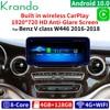 Krando Android 10.0 4G 128G 10.25 ''Radio samochodowe dla Mercedes Benz C W205 GLC-X25 V klasa W446 2015-2020 NTG 5.0 5.5 Carplay