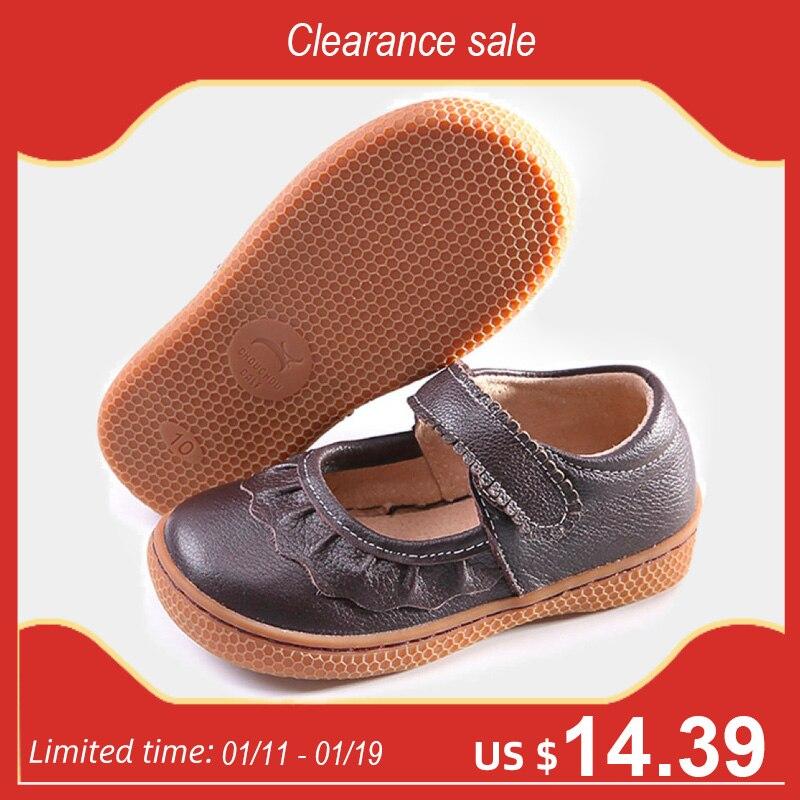 PEKNY בוסה מותג פעוטות בנות עור נעלי ילדים נעליים יחפים נעלי sneaker רך בלעדי חום צבע משלוח חינם גודל 25 -30