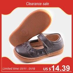 PEKNY BOSA ماركة الصغار الفتيات أحذية من الجلد الاطفال أحذية حافي القدمين حذاء رياضة لينة وحيد البني اللون شحن مجاني حجم 25-30