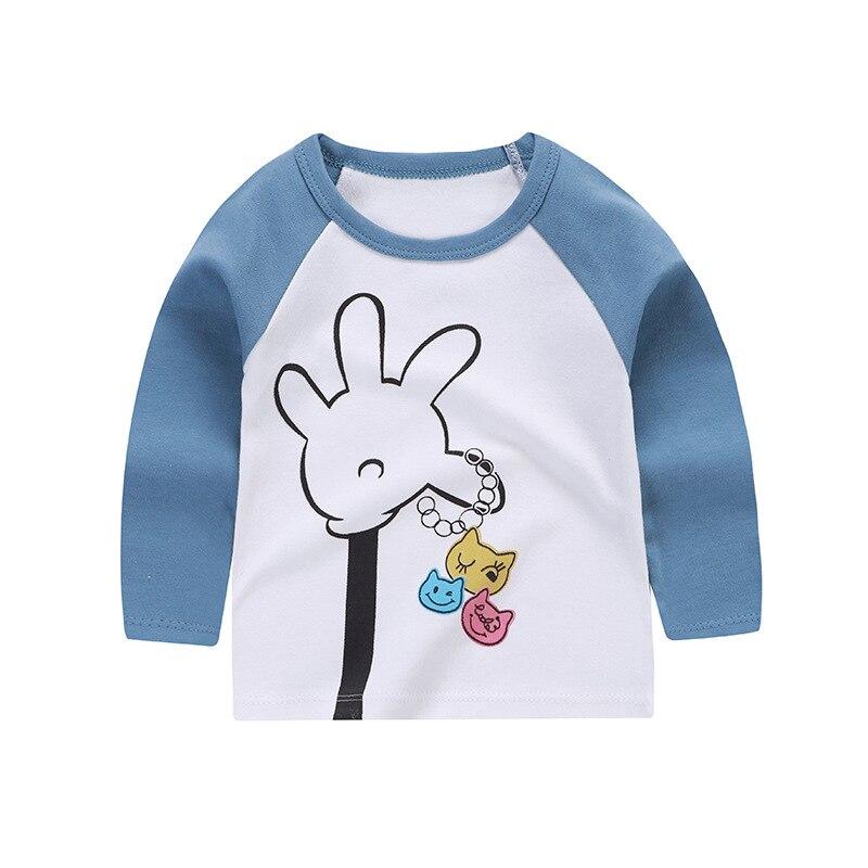 Autumn Baby Cartoon Single Shirt Clothes Boys and Girls T-shirt Baby Bottoming Shirt Winter Children's Long-sleeved Cotton 6