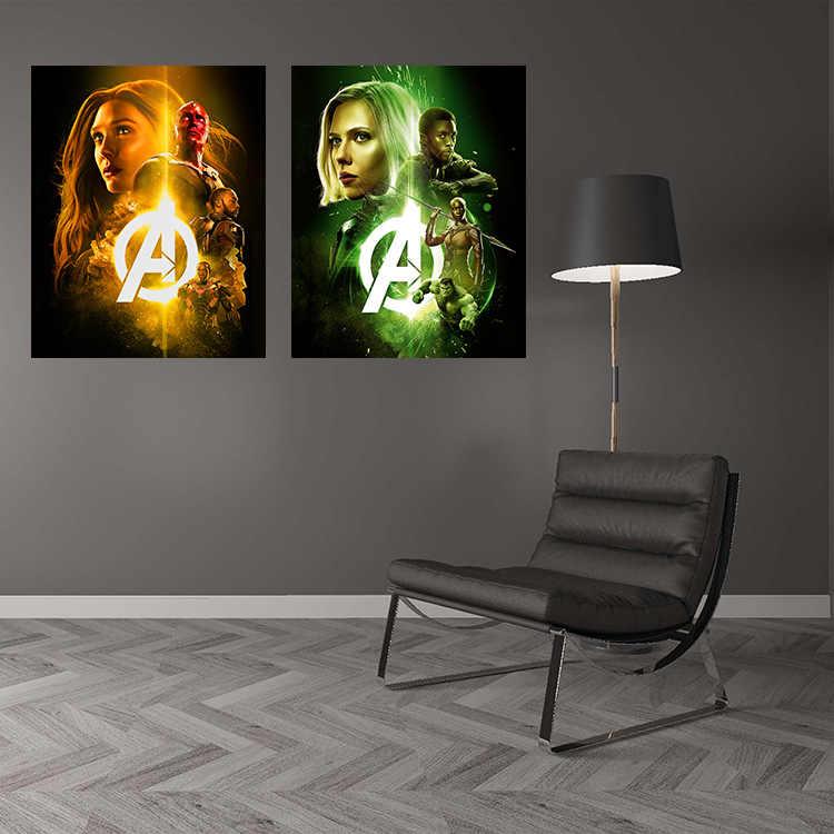 ตกแต่งบ้านภาพ 1 Avengers Alliance 4 โปสเตอร์Marvelยุโรปและอเมริกาห้องนอนผนังพิมพ์ผ้าใบขายส่ง