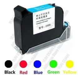 2588 42ML cartucho de tinta para impresora negro rojo azul verde de secado rápido 12,7mm Altura de impresión Universal para impresora de inyección de tinta portátil