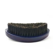 Men's Beard Brush Boar Hair Bristle Beard Brush Round Wood Shaving Comb Face Massage Handmade Mustache Brush G0518