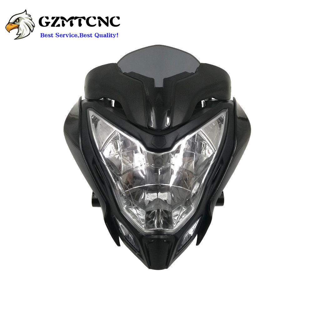 Headlamp-Assembly Headlight BAJAJ Pulsar 150 Front Black Red Orange for 200 title=