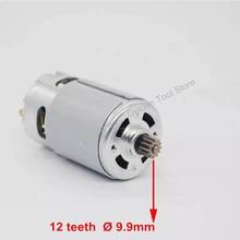 Silnik prądu stałego 12 zębów wymień na wiertarko śrubokręt bezprzewodowy BOSCH GSR 7.2V 9.6V 12V 14.4V 16.8V 18V 21V akcesoria części zamienne