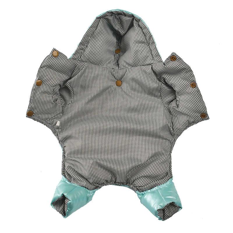 Vêtements pour petits chiens hiver chaud chiot Pet chien manteaux imperméable à capuche chien veste combinaisons Chihuahua Yorkie vêtements salopette