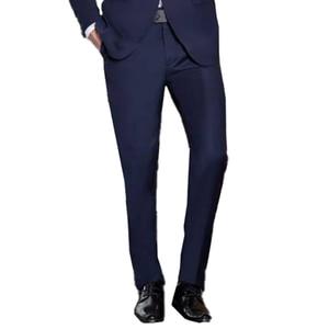 Image 2 - 解像度ブルー結婚式テーラーメイドの結婚式のスーツ男性 2019 スタイリッシュブルースーツとパンツ衣装オムマリアージュ
