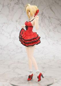 Image 3 - 25 CM אנימה גורל נוסף סקסי ילדה איור סאבר נרון קלאודיוס אדום שמלת PVC פעולה איור אסיפה דגם צעצועי (אין תיבת צבע)